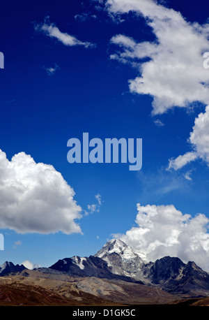 Mount Huayna Potosi, Calahuyo, Cordillera real, Bolivia, Andes, South America - Stock Photo
