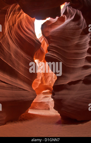Upper Antelope Canyon (Tse' bighanilini), LeChee Chapter, Navajo Nation, Arizona, United States of America, North - Stock Photo