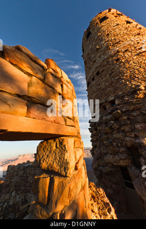 Desert View Watchtower, Grand Canyon National Park, Northern Arizona, United States of America, North America - Stock Photo