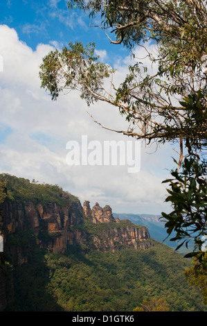The Three Sisters, Blue Mountains, Katoomba, New South Wales, Australia, Pacific - Stock Photo