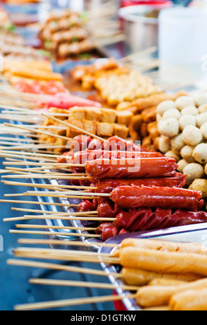 Thai food on a street food stall at the Khaosan Road market in Bangkok, Thailand, Southeast Asia, Asia - Stock Photo