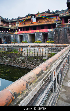 Hue Citadel Gates, The Imperial City, Hue, UNESCO World Heritage Site, Vietnam, Indochina, Southeast Asia, Asia - Stock Photo