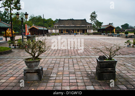 Old building in Hue Citadel, The Imperial City, Hue, UNESCO World Heritage Site, Vietnam, Indochina, Southeast Asia, - Stock Photo