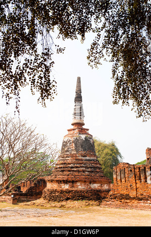 Stupa at Wat Phra Si Sanphet in the Ancient Historical Park of Ayutthaya City, Thailand, Southeast Asia, Asia - Stock Photo