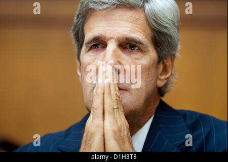Dec. 21, 2012 - Washington, District of Columbia, U.S. - John Kerry, the senior senator from Massachusetts and former - Stock Photo