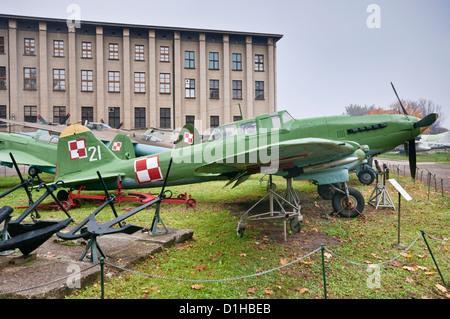 Ilyushin Il-2m3 Shturmovik, Soviet WWII ground attack fighter, Polish Army Museum in Warsaw, Poland - Stock Photo