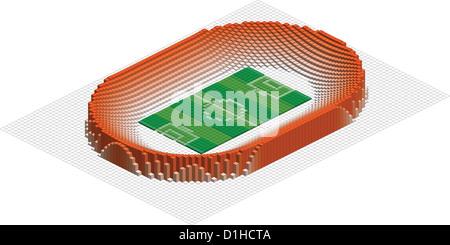 abstract stadium for football - Stock Photo