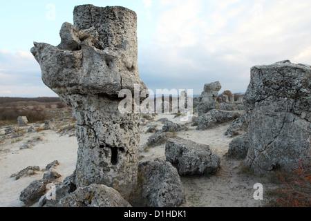 Pobiti Kamani, the Stone Forest, close to Varna, Bulgaria. - Stock Photo