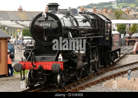Ivatt class 4 number 43106 Steam Locomotive on the West Somerset Railway in 2012 - Stock Photo