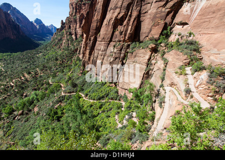 The Trail to Angels Landing, Zion NP, Utah - Stock Photo