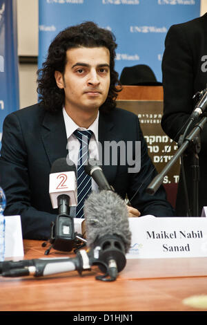 Maikel Nabil Sanad, Egyptian human rights dissident, Tahrir Square democracy blogger, and former 302-day political - Stock Photo