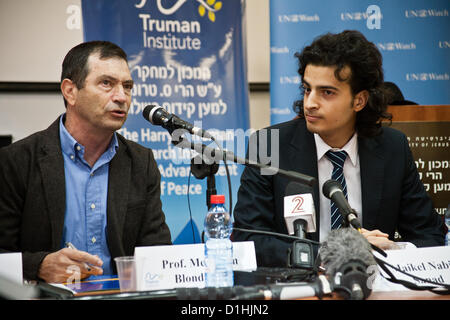 Professor Menahem  Blondheim (L), Director of the Harry S. Truman Research Institute for the Advancement of Peace, - Stock Photo