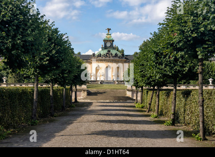 Picture Gallery at Sanssouci palace, Potsdam, Germany - Stock Photo