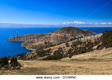 Isla del Sol on the Bolivian Side of Lake Titicaca, Bolivia - Stock Photo