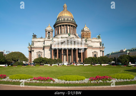 St Isaac's Cathedral in Saint Petersburg, Russia. - Stock Photo
