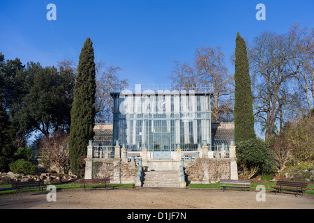 Central Greenouse (constructed 1839-1842), Jardin des Plantes, Rouen, France - Stock Photo