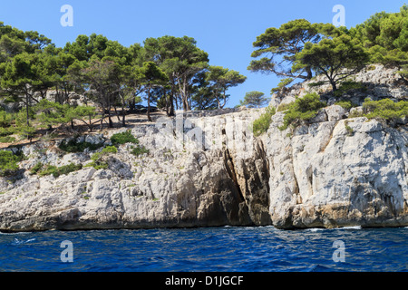 Calanques coast near Cassis in Provence, Southern France - Stock Photo