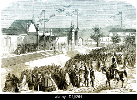 scene from the history of France, agricultural competition in the 19th century, - Stock Photo