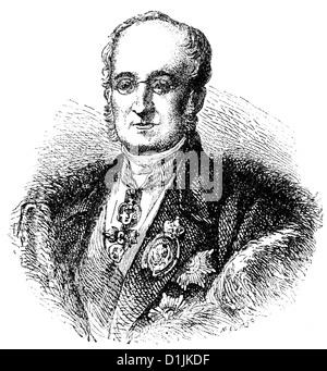 Karl Robert Count of Nesselrode or Karl Wassiljewitsch Nesselrode, 1780-1862, Russian diplomat, foreign minister - Stock Photo