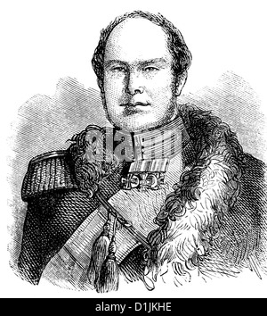 portrait of Frederick William IV, 1795 - 1861, King of Prussia, from the House of Hohenzollern, - Stock Photo