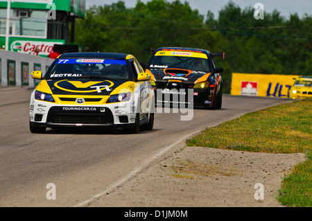 Scion tC competes in the  CTCC Canadian Touring Car Championship at the 2011 Mobile-1 Grand Prix Mosport - Stock Photo