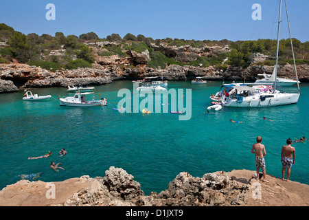 Cala Sa Nau. Mallorca Island. Spain - Stock Photo