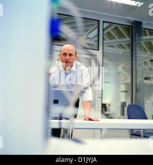 business people data center control center man License free except ads and billboards - Stock Photo
