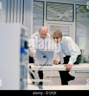 business people data center control center License free except ads and billboards - Stock Photo