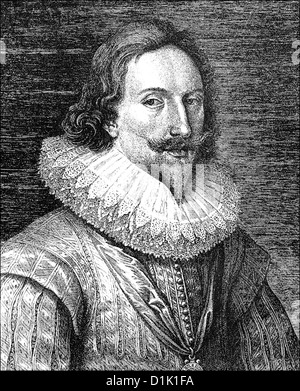 Portrait of Charles I, 1600 - 1649, King of England, Scotland and Ireland, 1625-1649 - Stock Photo