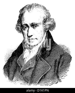 portrait of James Watt, 1736 - 1819, Scottish inventor of the steam engine, - Stock Photo