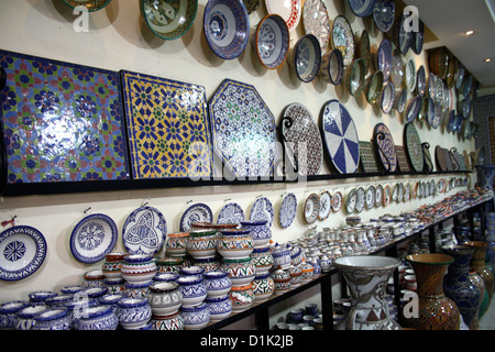 Pots on sale in Fes, Morocco - Stock Photo