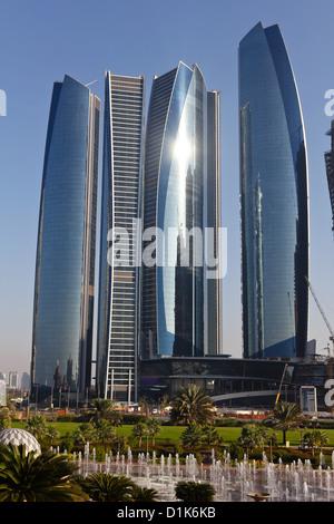 Etihad Towers, Abu Dhabi, UAE - Stock Photo