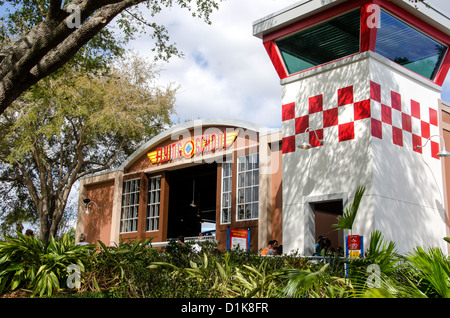 Legoland Florida Flying School ride building, Winter Haven, FL - Stock Photo
