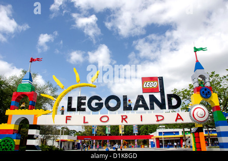 Legoland Florida main park entrance winter haven fl - Stock Photo
