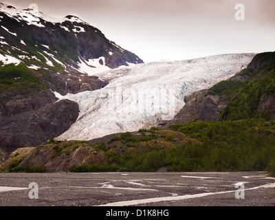 Exit Glacier, Seward Alaska - Stock Photo