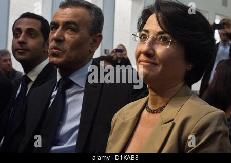 MK Ms. Hanin Zuabi in the High Court of Justice courtroom for her appeal against disqualification for upcoming elections - Stock Photo