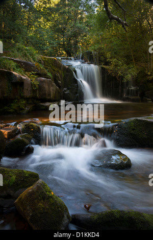Talybont on Usk waterfall on the Caerfanell river. - Stock Photo