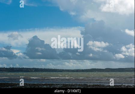 Cumulonimbus Storm Cloud over the Isle of Wight - Stock Photo