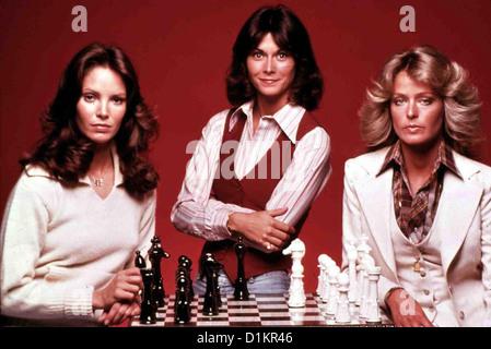 Drei Engel Fuer Charlie  Charlie's Angels (First Season)  Jaclyn Smith, Kate Jackson, Farrah Fawcett *** Local Caption - Stock Photo