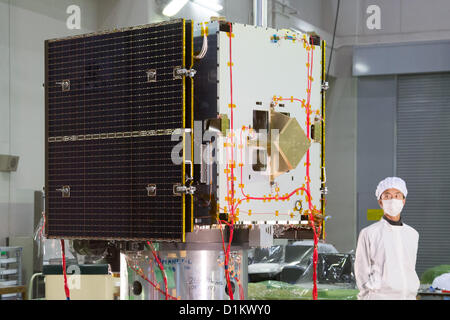 December 26, 2012, Sagamihara, Japan - The Japan Aerospace Exploration Agency unveils the  'Hayabusa-2,' an unmanned - Stock Photo