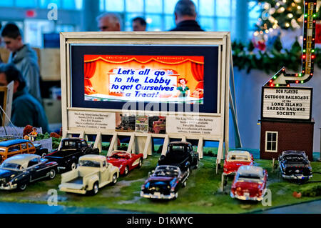 Dec. 26, 2012 - Garden City, New York, U.S. - The Long Island Garden Railway Society large-scale model train display - Stock Photo