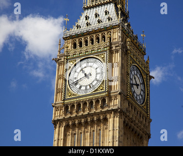 Big Ben is the nickname for the great bell of the clock at the north end of the Palace of Westminster in London. - Stock Photo