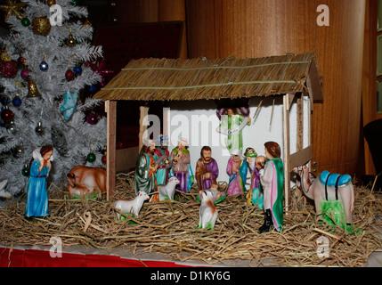 Nativity scene Cristmas - Stock Photo