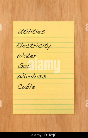 Common home utilities and expenses - Stock Photo