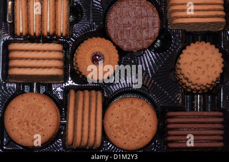 Tray of Assorted Biscuits - Stock Photo