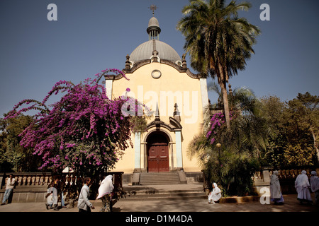 Holy Trinity Cathedral in Addis Ababa, Ethiopia. - Stock Photo