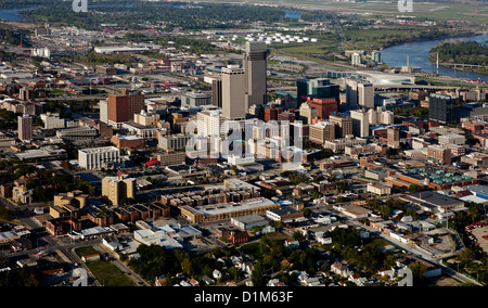 aerial photograph Omaha, Nebraska - Stock Photo