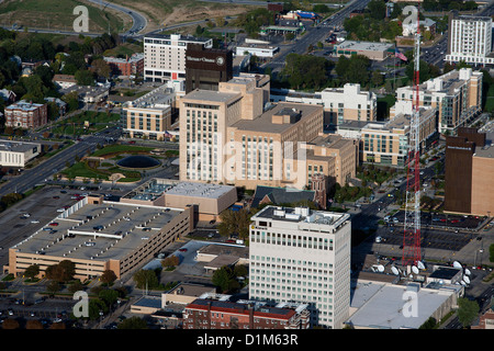 aerial photograph Kiewit and Mutual of Omaha headquarters, Omaha, Nebraska - Stock Photo