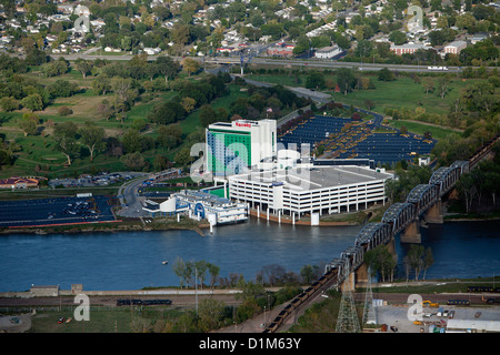 aerial photograph Harrah's Council Bluffs, Iowa - Stock Photo