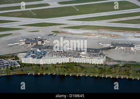 aerial photograph Eppley Airfield, Omaha, Nebraska - Stock Photo